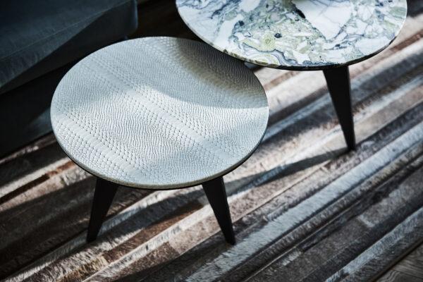 Dami luxury interior emerald tafels
